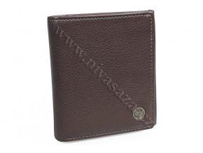Kožená peněženka Silvercat SC001-BR hnědá