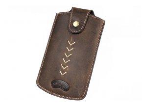 Kožené pouzdro na mobilní telefon Nivasaža N101-HNT-BR hnědé