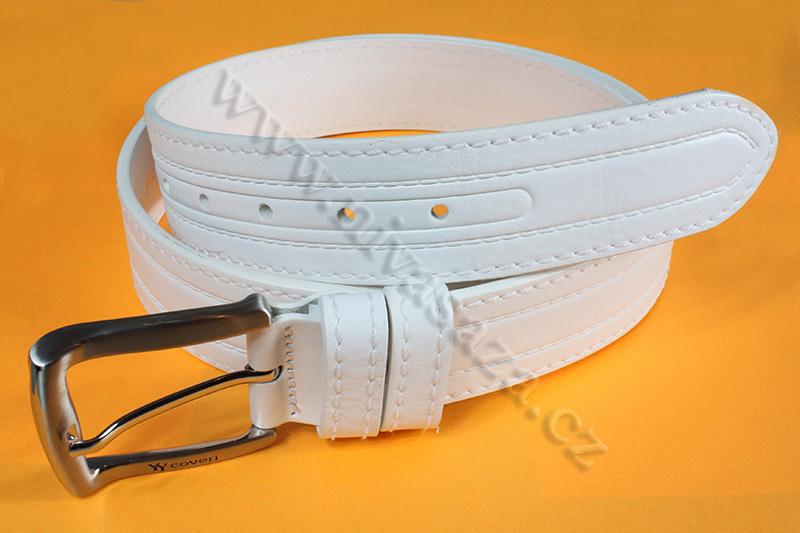 Kožený pásek YY Coveri YY3005/40 bílý