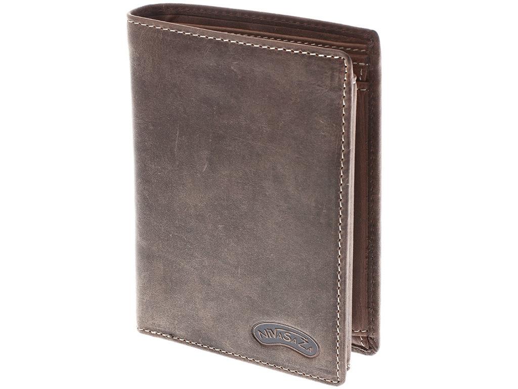 Pánská kožená peněženka Nivasaža N12-HNT-BR hnědá