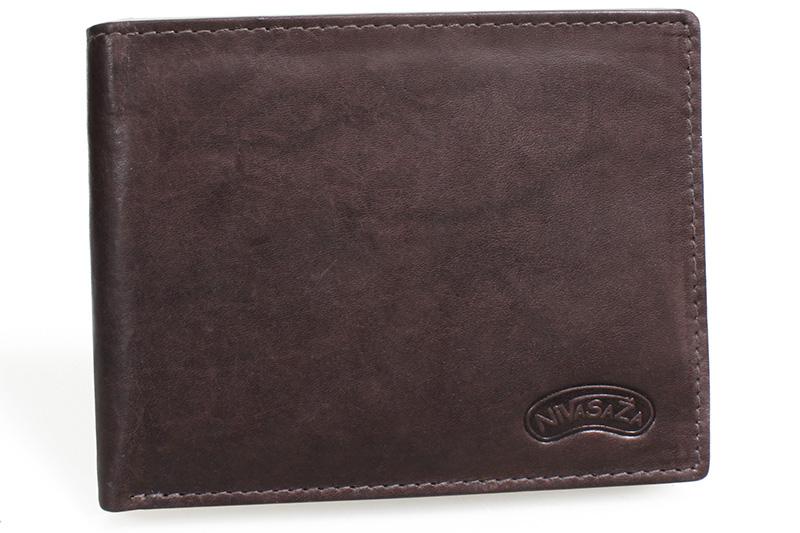 Pánská kožená peněženka Nivasaža N13-MTH-BR hnědá