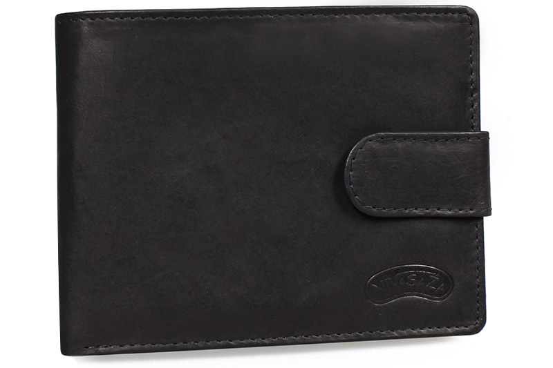 Pánská kožená peněženka Nivasaža N22-MTH-B černá