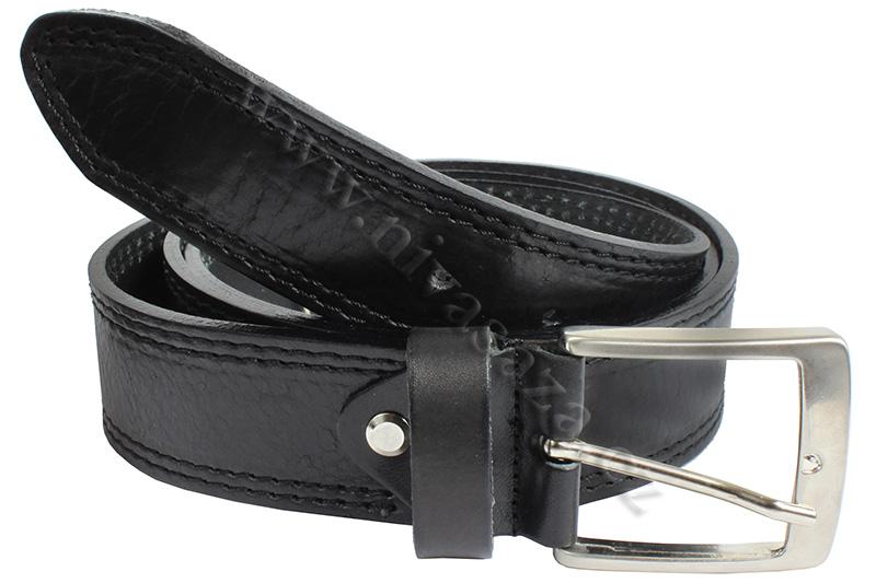 Pánský kožený pásek Ingegno 025 černý Velikost: 110-120 cm