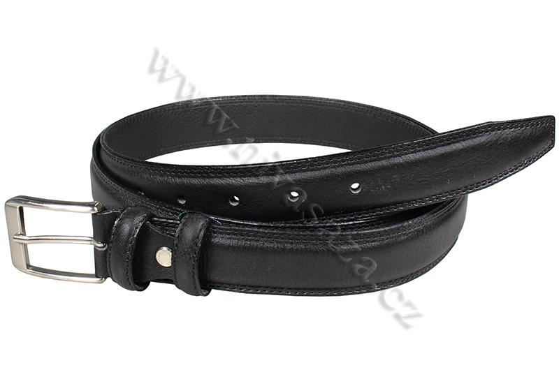 Pánský kožený pásek PA820/30 černý Velikost: 128-138 cm