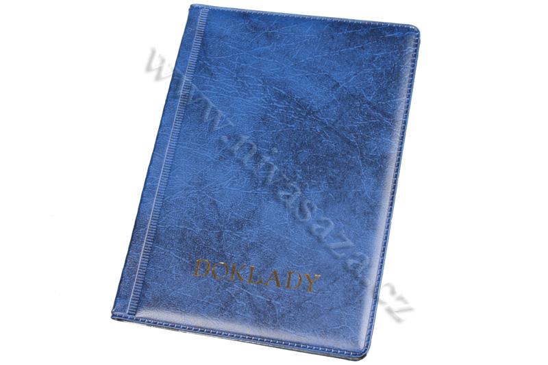 Pouzdro na doklady modré