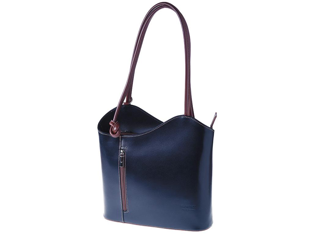 Dámská kožená kabelka ITA594-R červená