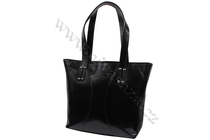 Dámská kožená kabelka ITA2557-B černá