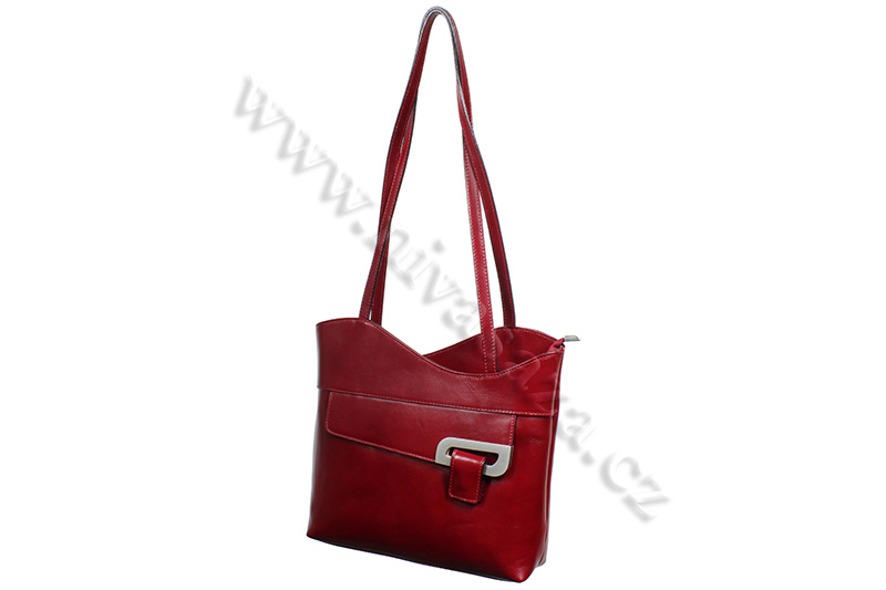 Dámská kožená kabelka ITA2631 červená