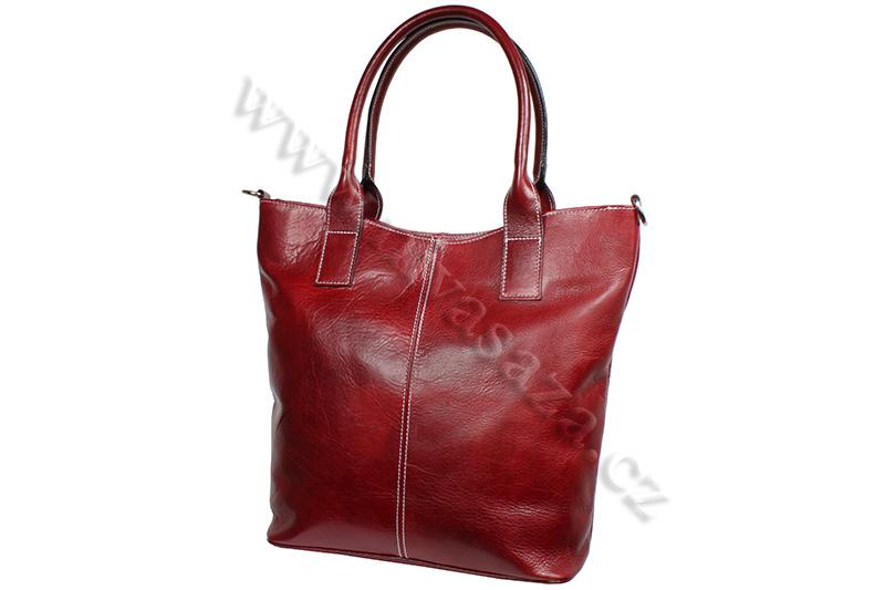 Dámská kožená kabelka ITA5433-R červená
