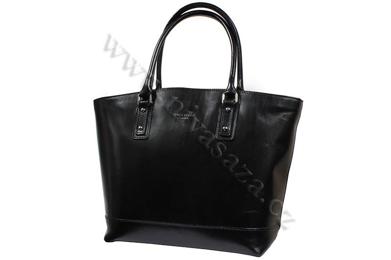 Dámská kožená kabelka ITA3658 černá