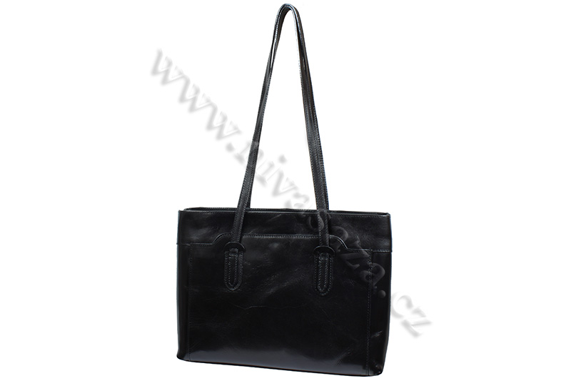 Dámská kožená kabelka ITA2658-B černá