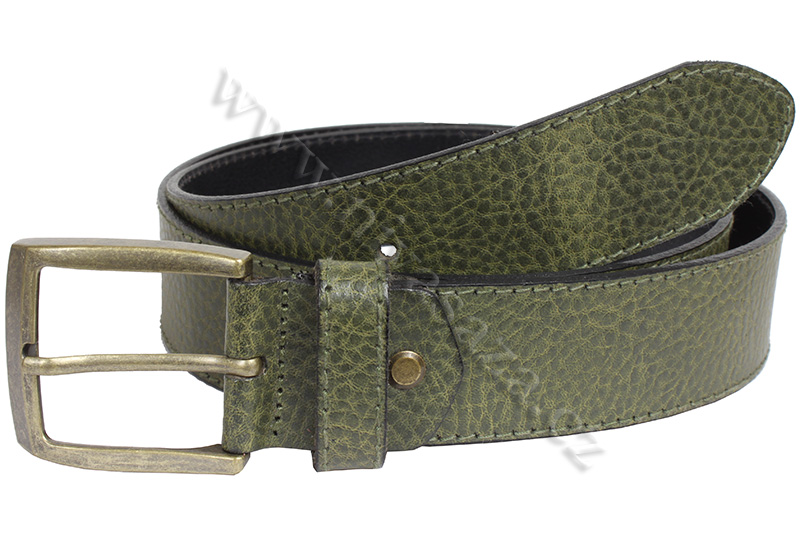 Pánský kožený pásek No Limits 111/38 zelený Velikost: 95-105 cm
