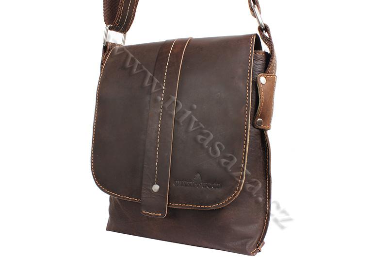 Pánská kožená taška Green Wood 4955H hnědá