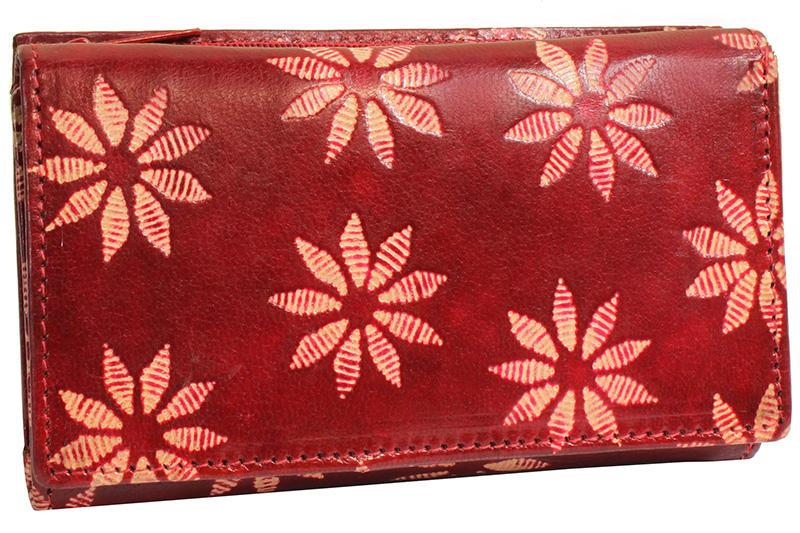 Dámská kožená peněženka Nivasaža N72-SNT-RF červená