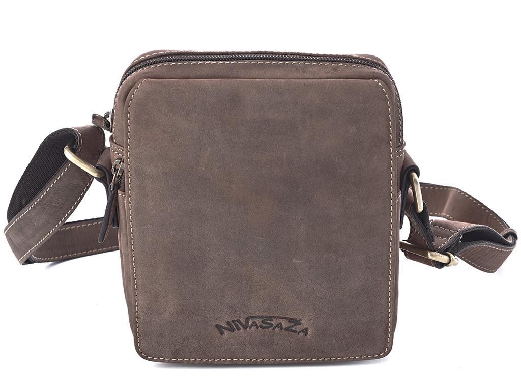 Pánská kožená taška Nivasaža N1000-HNT-BR hnědá