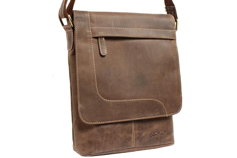 Pánská kožená taška Nivasaža N1300-HNT-BR hnědá