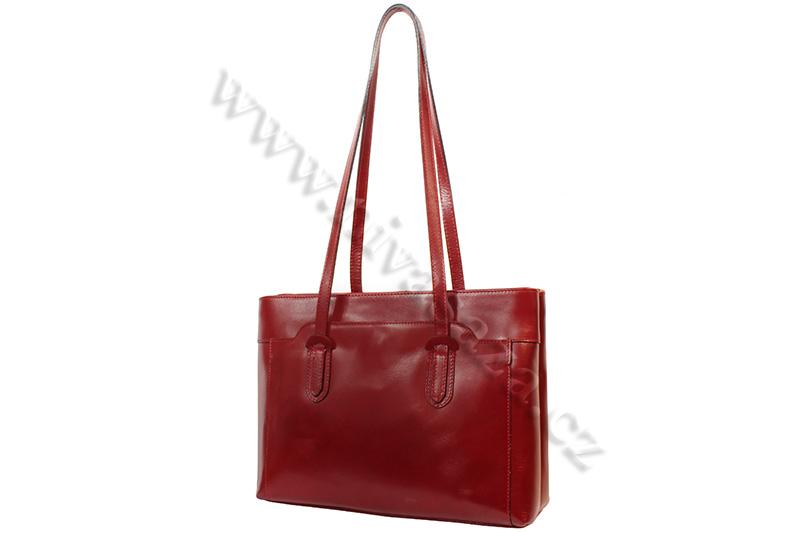 Dámská kožená kabelka ITA2658-R červená