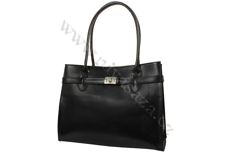 Dámská kožená kabelka ITA4477-B černá