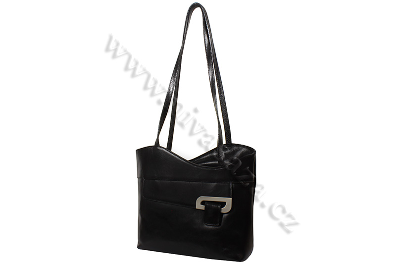 Dámská kožená kabelka ITA2631-B černá
