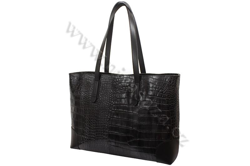 Dámská kožená kabelka ITA9851 černá