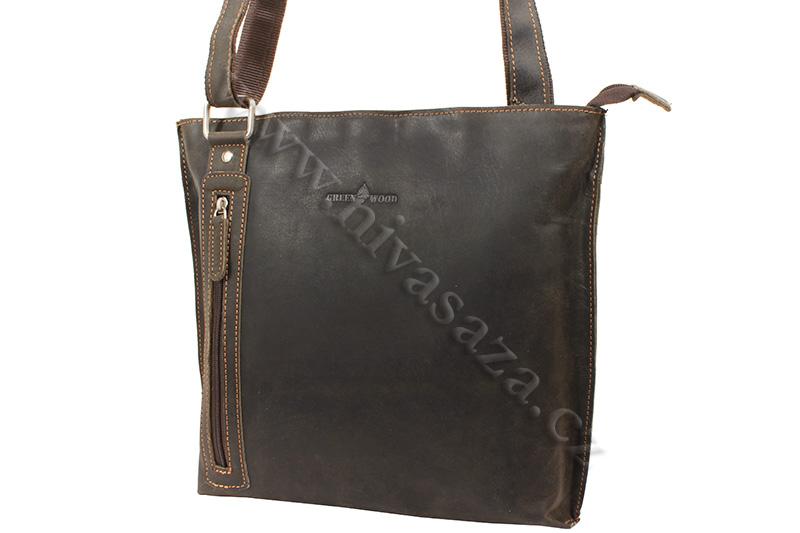 Dámská kožená kabelka Green Wood 5774H-DBR hnědá