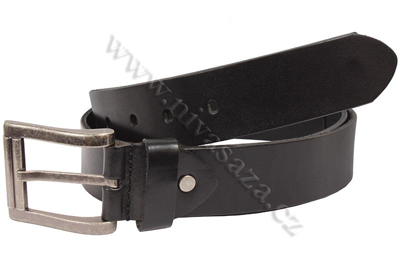 Kožený pásek Eleven F9 černý Velikost: 102-112 cm