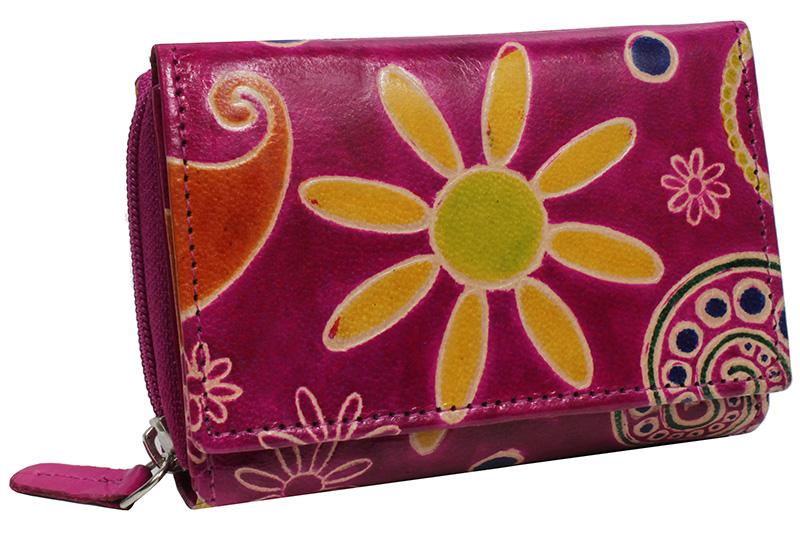 Dámská kožená peněženka Nivasaža N157-SNT-PFG barevná