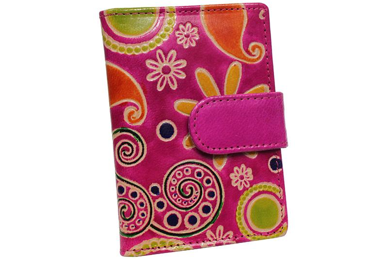 Kožené pouzdro na karty Nivasaža N160-SNT-PFG barevné