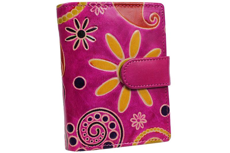 Dámská kožená peněženka Nivasaža N75-SNT-PFG barevná