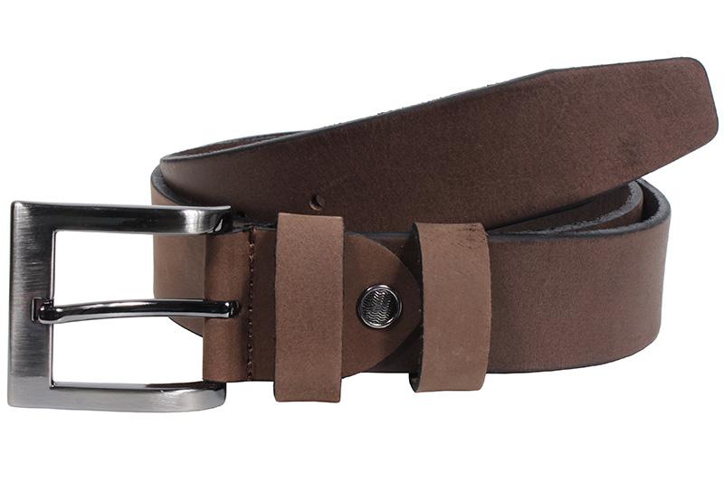 Kožený pásek Nivasaža N2000-HNT-BR hnědý Velikost: 84-94 cm