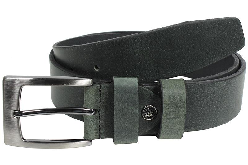 Kožený pásek Nivasaža N2000-HNT-BG tmavě zelená Velikost: 94-104 cm