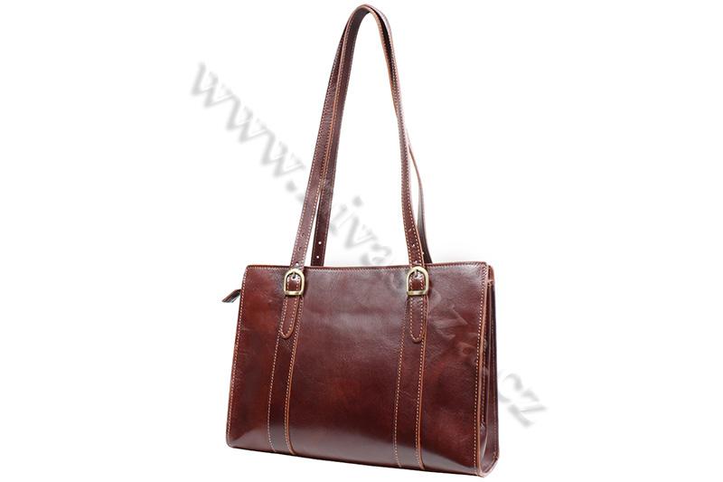 Dámská kožená kabelka ITA7733-BR hnědá