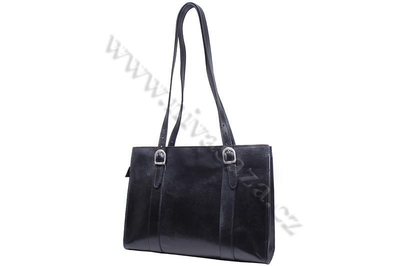 Dámská kožená kabelka ITA7733-B černá