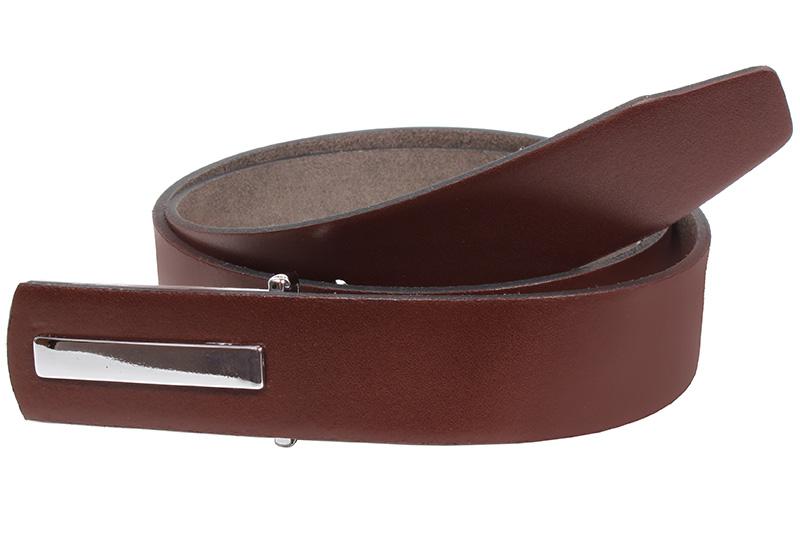 Kožený pásek Nivasaža N2351-VTI-BR hnědý Velikost: 83-93 cm