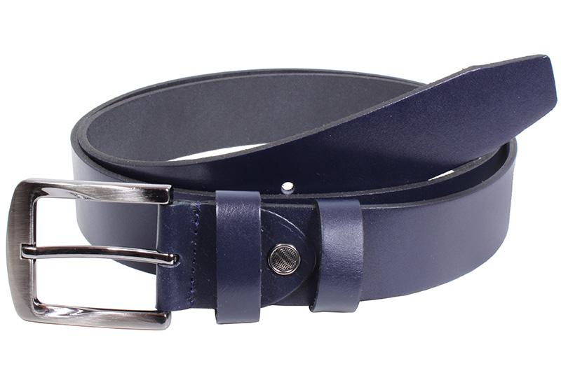Kožený pásek Nivasaža N2000-VTI-BL modrý Velikost: 83-93 cm