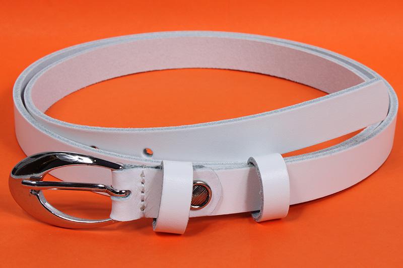 Dámský kožený pásek Nivasaža N2200-VTI-W bílý Velikost: 82-92 cm