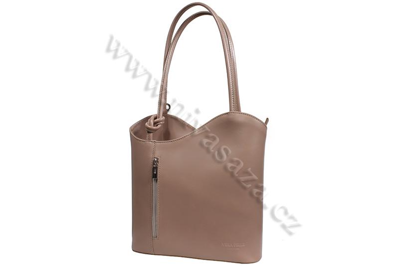 Dámská kožená kabelka ITA594-BE béžová