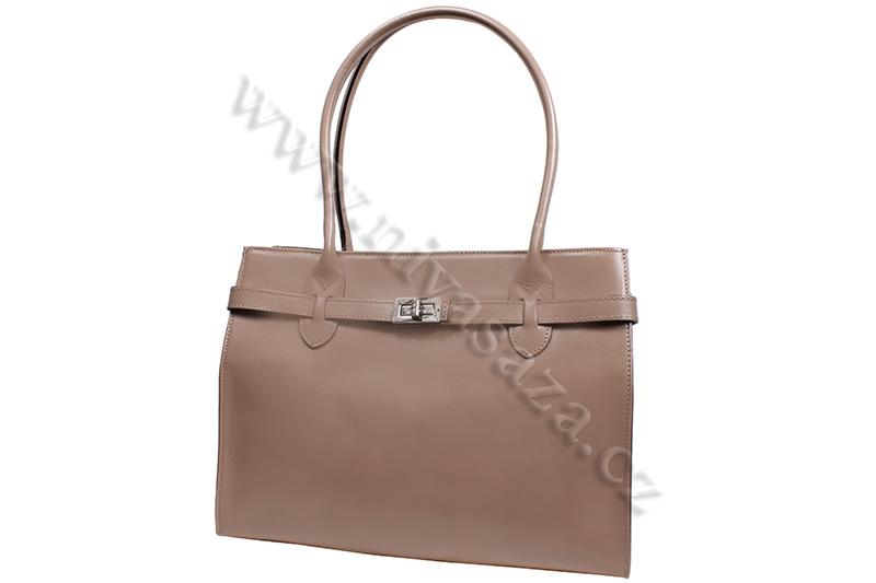 Dámská kožená kabelka ITA4477-BE béžová