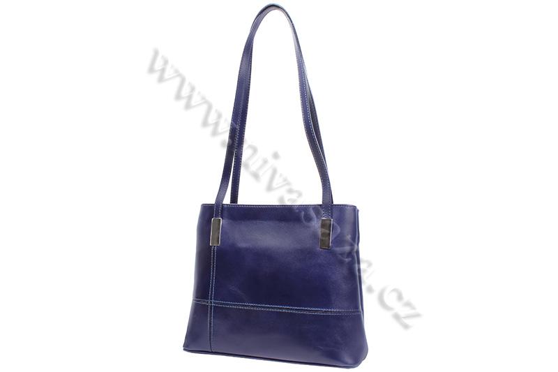 Dámská kožená kabelka ITA2635-BL modrá
