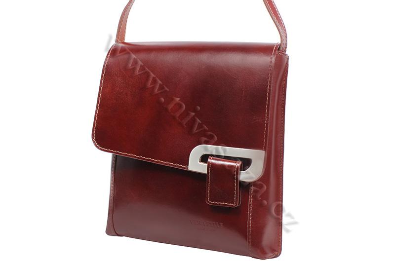 Dámská kožená kabelka ITA2621-BR hnědá