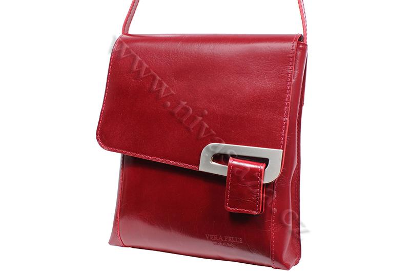 Dámská kožená kabelka ITA2621-R červená