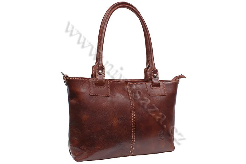 Dámská kožená kabelka ITA3451-BR hnědá