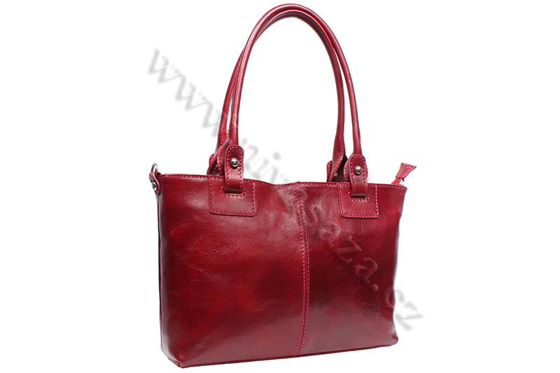 Dámská kožená kabelka ITA3451-R červená