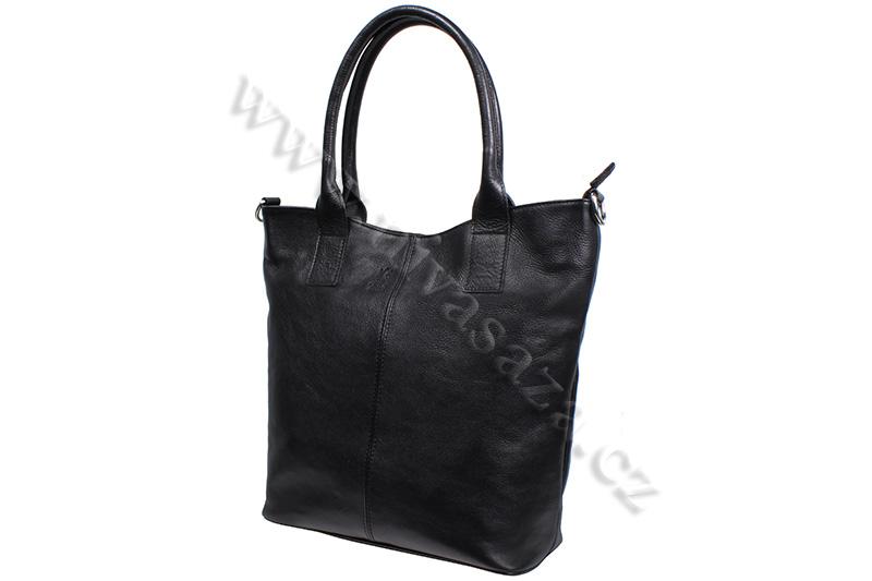 Dámská kožená kabelka ITA5433-B černá