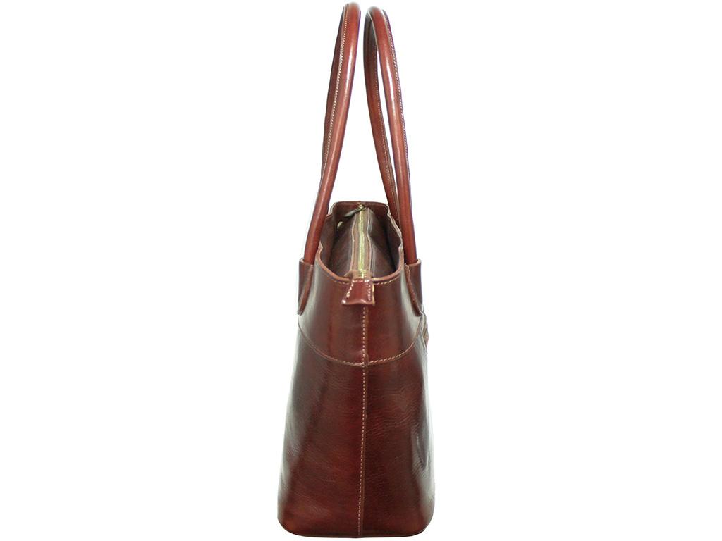 Dámská kožená kabelka ITA3582-R červená