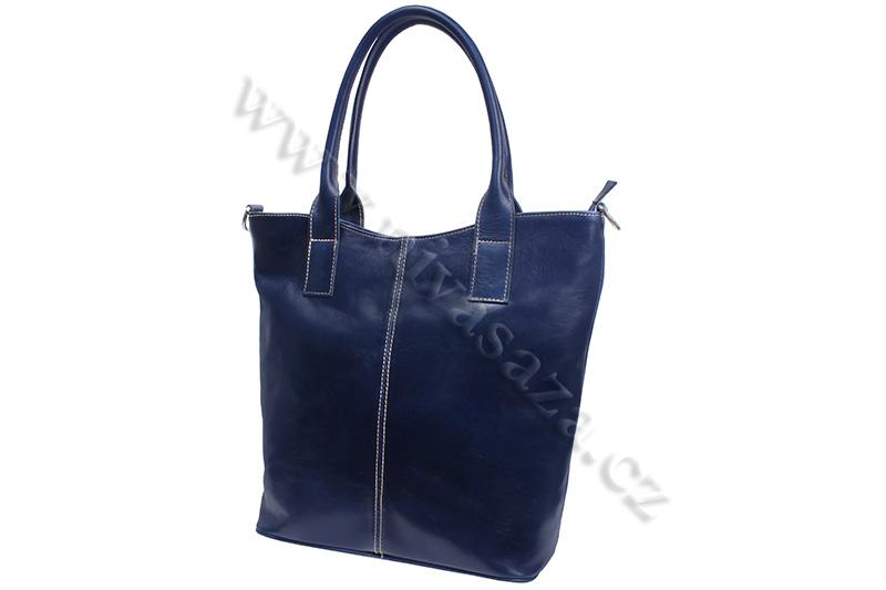 Dámská kožená kabelka ITA5433-BL modrá
