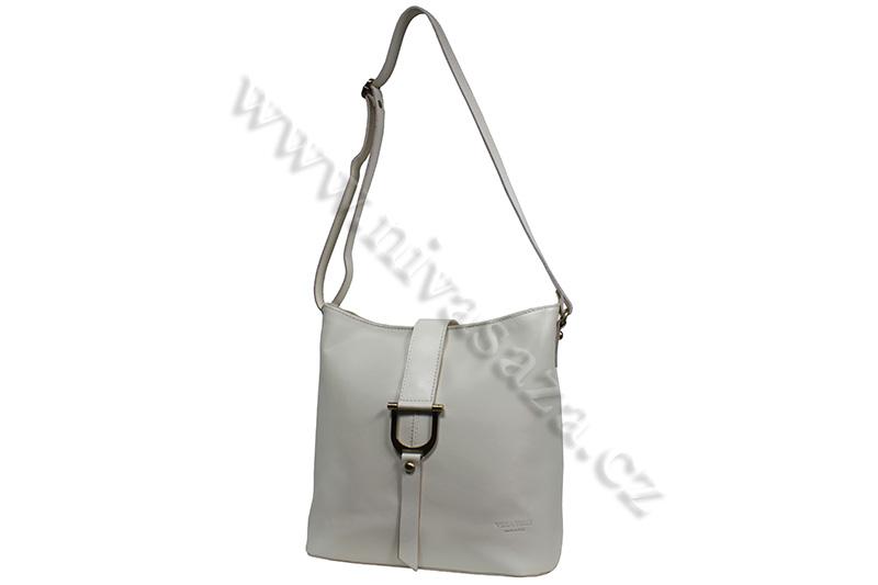 Dámská kožená kabelka ITA3572-CR krémová