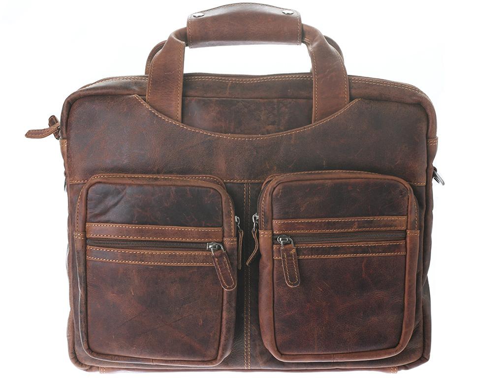 Pánská kožená taška Green Wood 5741H-SND hnědá