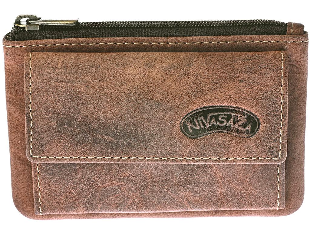 Kožená klíčenka Nivasaža N139-HNT-BR hnědá