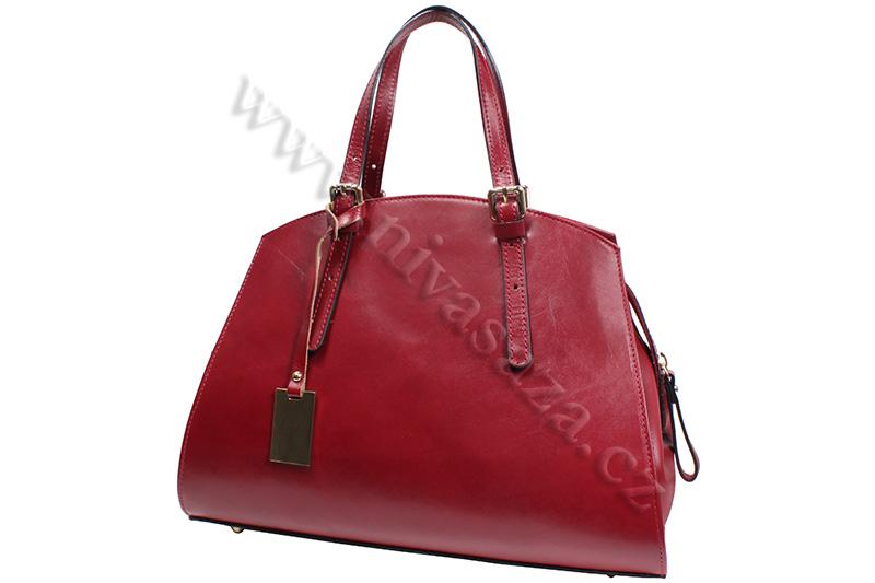 Dámská kožená kabelka ITA2115-R červená